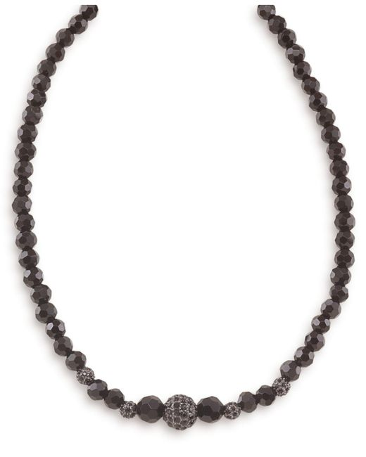 Carolee | Black Necklace, Graduated Jet And Crystal Fireball | Lyst
