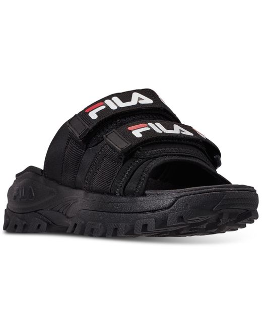 Fila Black Outdoor Slide Sandals From Finish Line