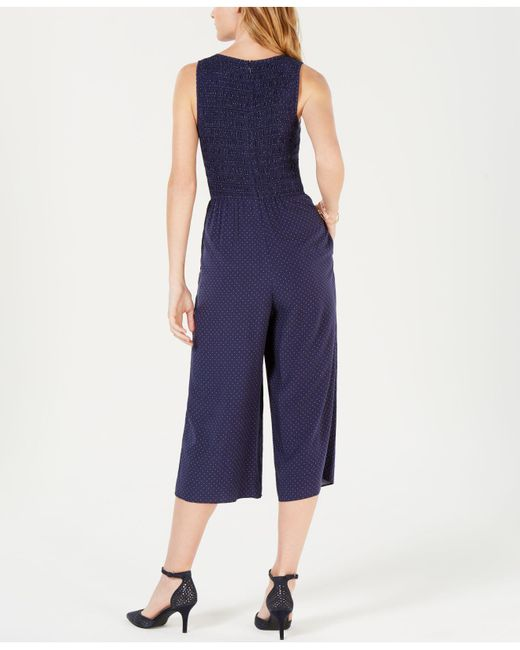 2185ced0eef ... Maison Jules - Blue Polka-dot Cropped Jumpsuit
