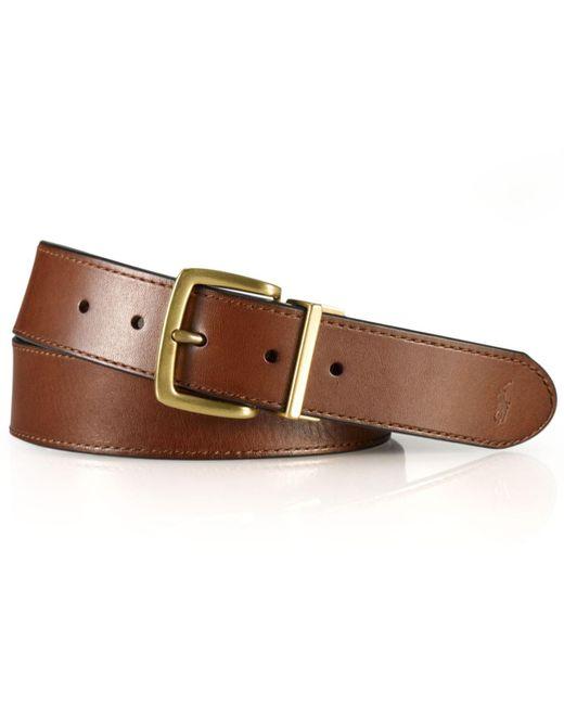 Polo Ralph Lauren Brown Belt, Reversible Casual Belt for men