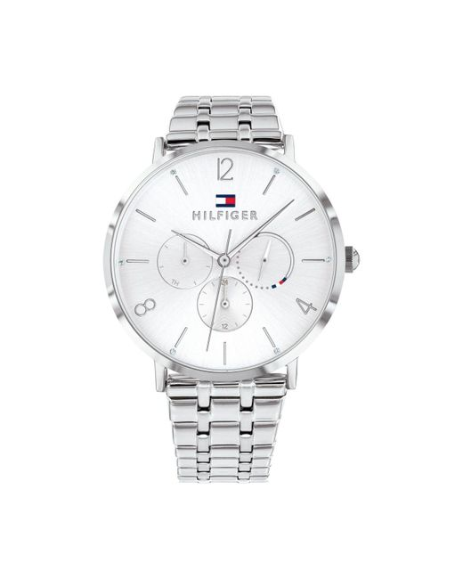 Tommy Hilfiger Metallic Womens Stainless Steel Bracelet Watch 40mm, Created For Macy's