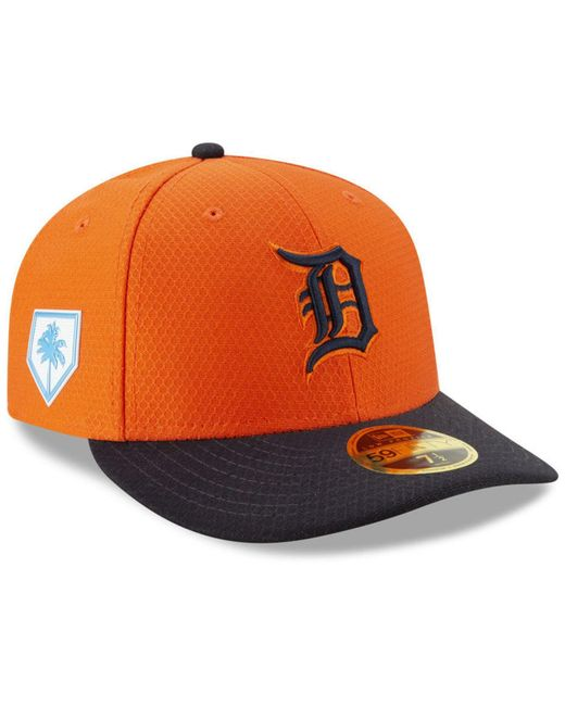 sports shoes good selling online here KTZ Synthetic Detroit Tigers Spring Training 59fifty-fitted Low ...