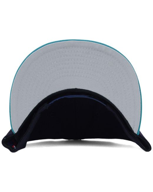 sale retailer 1ec1f 67698 ... get ktz blue seattle mariners mlb 2 tone link 9fifty snapback cap for men  lyst a0a1b