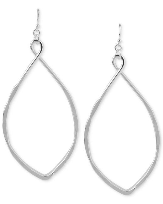 Robert Lee Morris Metallic Silver-tone Large Oval Drop Earrings
