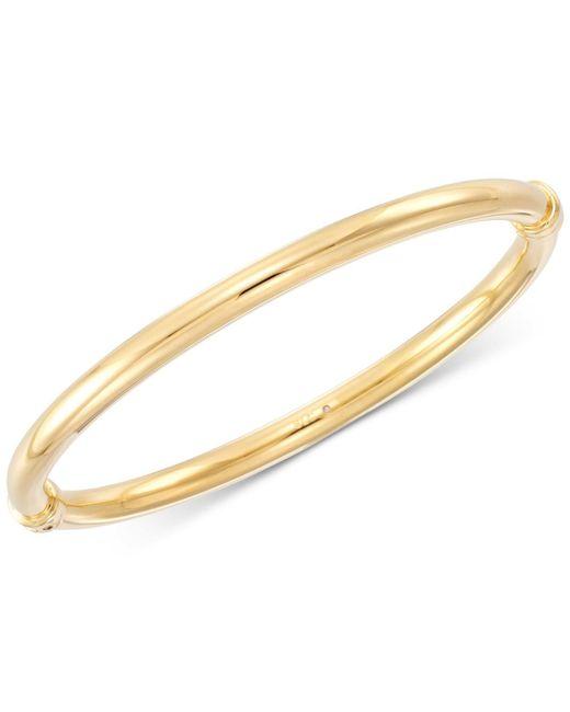 Signature Gold - Metallic Polished Hinged Bangle Bracelet - Lyst