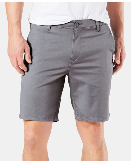 4cde903c6c Dockers - Gray Big   Tall Original Straight-fit Stretch Shorts for Men ...