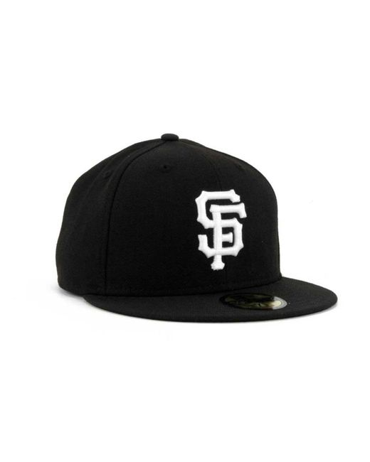 e4eba002 Men's Black San Francisco Giants Mlb B-dub 59fifty Cap
