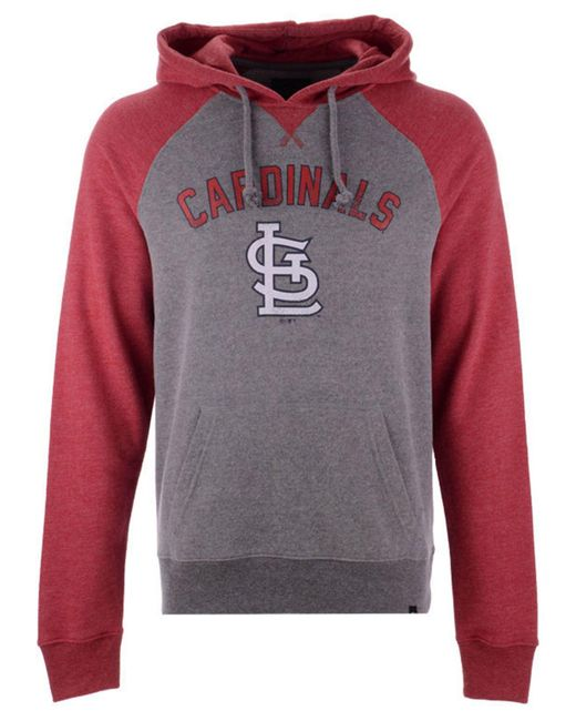 47 Brand Gray St. Louis Cardinals Match Hoodie for men