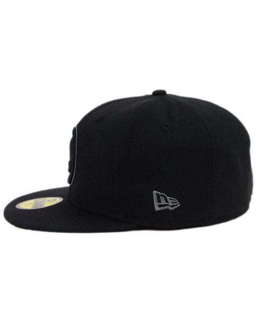 ... KTZ - Atlanta Hawks Black Graph 59fifty Cap for Men - Lyst ... 4a926bf2b191