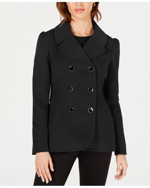Maison Jules - Black Double-breasted Peacoat, Created For Macy's - Lyst