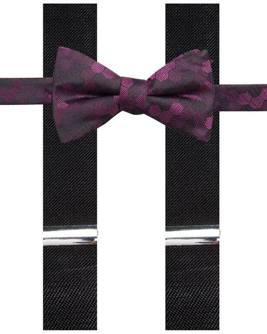 Alfani - Multicolor Geometric Pre-tied Bow Tie & Suspender Set, Created For Macy's for Men - Lyst