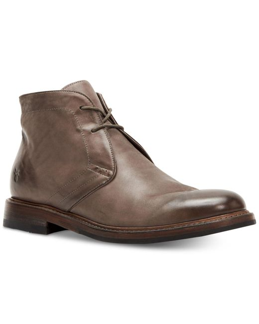 Frye - Gray Murray Leather Chukka Boots for Men - Lyst