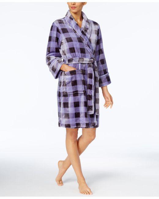 Charter Club | Purple Plaid Robe | Lyst