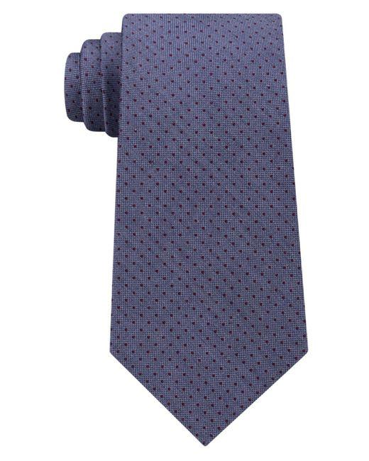 Michael Kors | Blue Men's Pin Dot Melange Silk Tie for Men | Lyst
