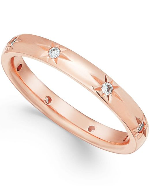 Marchesa | Pink Diamond Band In 18k Rose Gold (1/8 Ct T.w.) | Lyst