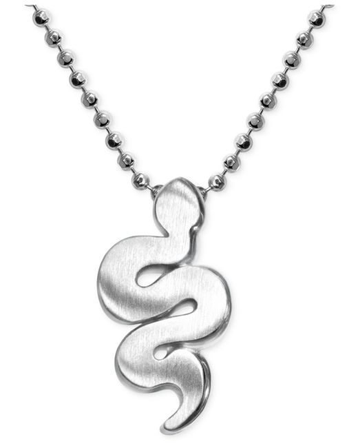 Alex Woo | Metallic Little Snake Zodiac Pendant Necklace In Sterling Silver | Lyst