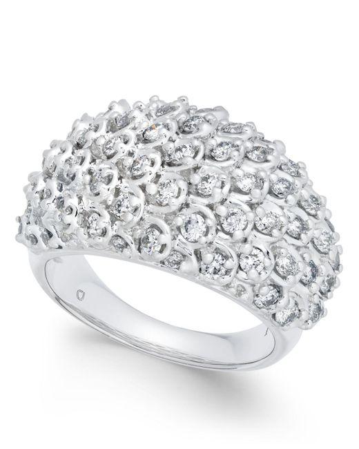 Macy's | Metallic Diamond Cluster Bubble Ring (1-1/2 Ct. T.w.) In 14k White Gold | Lyst