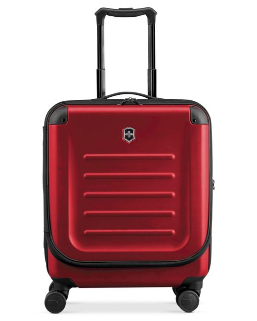 "Victorinox - Red Suitcase, 21"" Spectra 2.0 Rolling Hardside Extra Capacity Dual Access Carry On Spinner Upright for Men - Lyst"