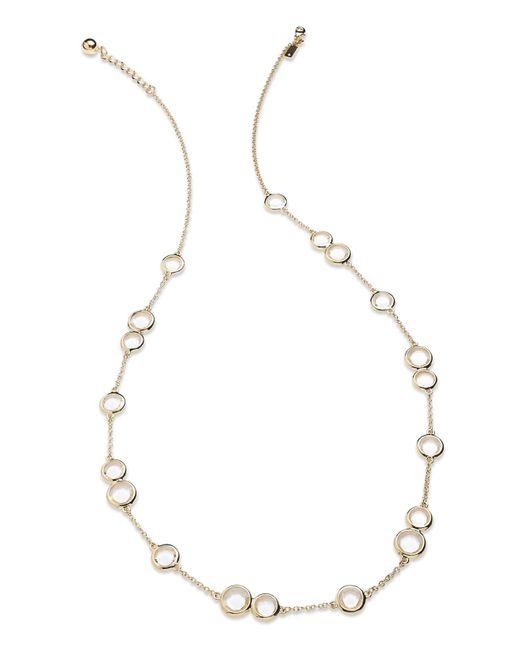 Kate Spade | Metallic Necklace, 12k Gold-plated Crystal Stone Scatter Necklace | Lyst