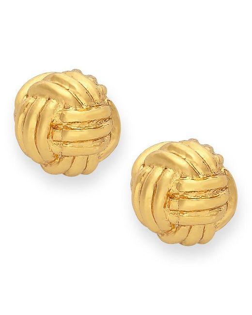 Kate Spade | Metallic Earrings, 12k Gold-plated Knot Stud Earrings | Lyst