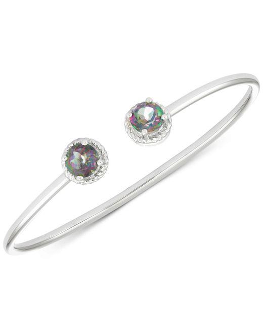 Macy's - White Mystic Topaz Open Bangle Bracelet (3-1/5 Ct. T.w.) In Sterling Silver - Lyst
