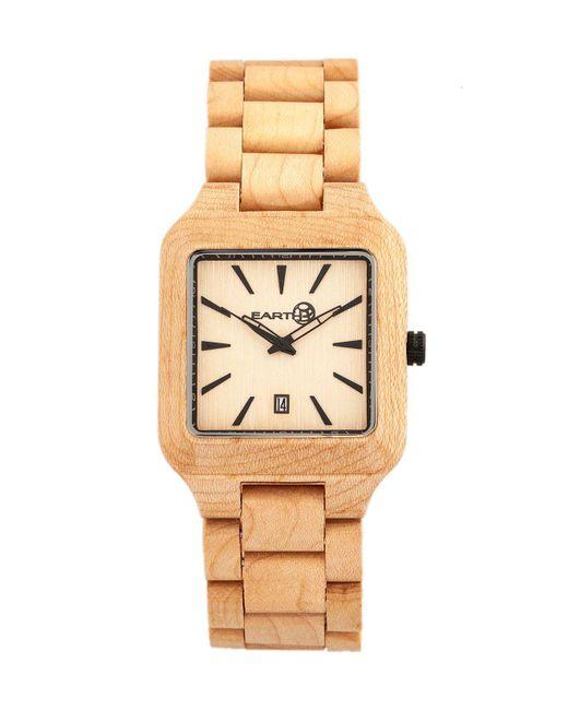 Earth Wood - Metallic Arapaho Wood Bracelet Watch W/date Khaki 39mm - Lyst