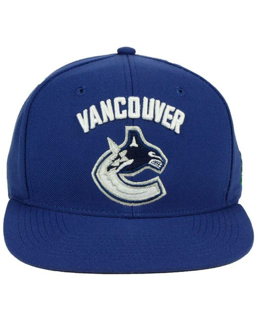 hot sale online 50348 3fd46 ... france adidas blue vancouver canucks core snapback cap for men lyst  097b2 d1168