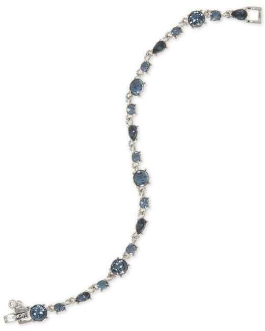 Givenchy - Silver-tone Blue Stone Flex Bracelet - Lyst