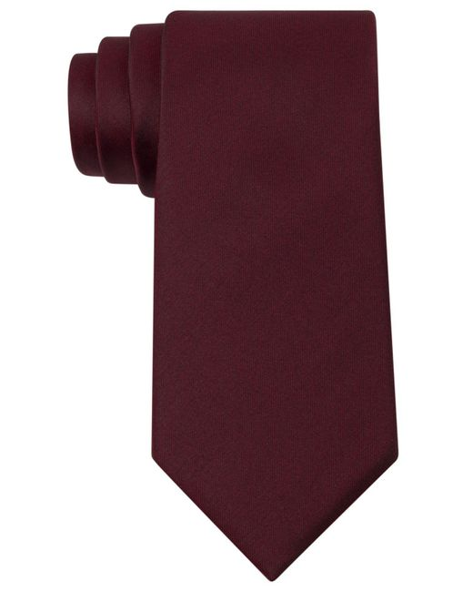 Kenneth Cole Reaction | Purple Slim Solid Tie for Men | Lyst