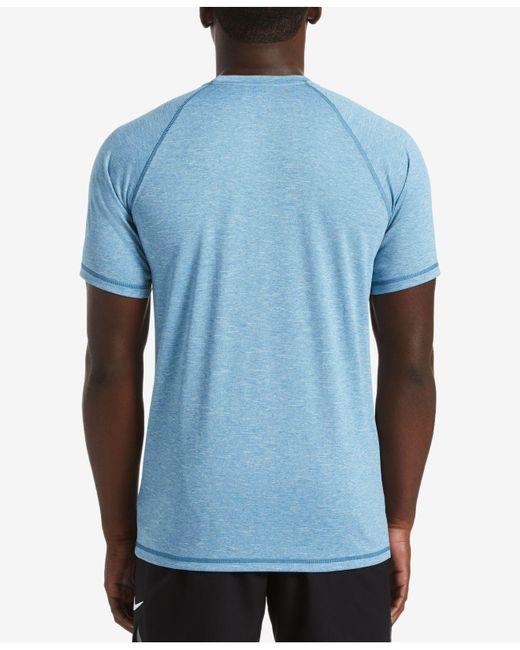 f7e6ce50 ... Nike - Blue Big & Tall Hydroguard Moisture-wicking Heather Rash Guard  for Men ...