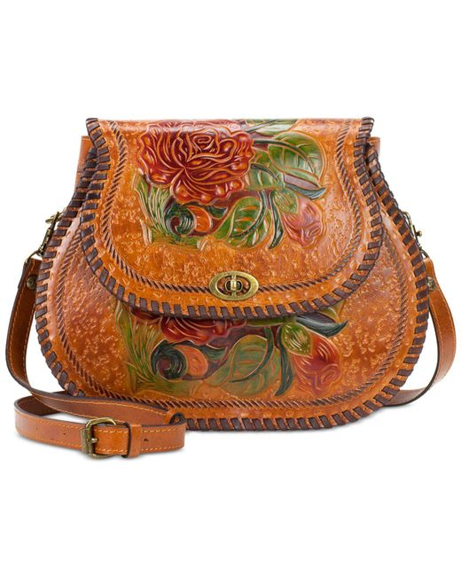 Patricia Nash   Metallic Arezzo Painted Medium Saddle Bag   Lyst