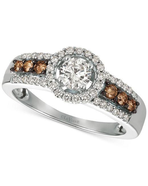 Le Vian - Metallic Diamond Ring (3/4 Ct. T.w.) In 14k White Gold - Lyst
