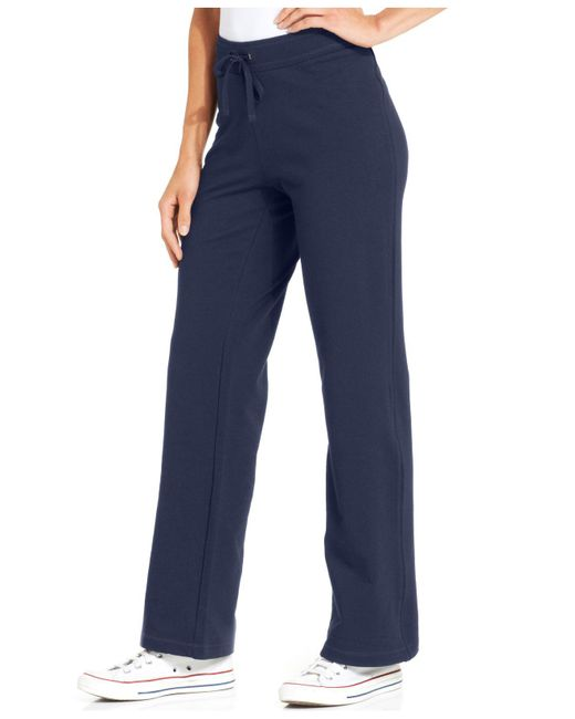 Style & Co. | Blue Petite French-terry Drawstring Pants | Lyst