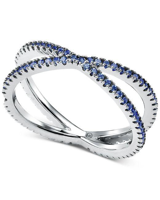 Michael Kors Metallic Custom Kors Sterling Silver Pave Nesting Ring Insert