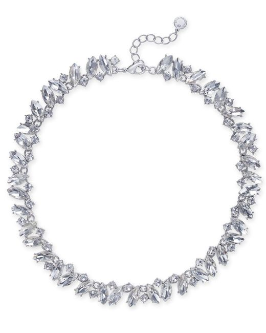 Charter Club   Metallic Silver-tone Marquise Crystal All-around Collar Necklace   Lyst