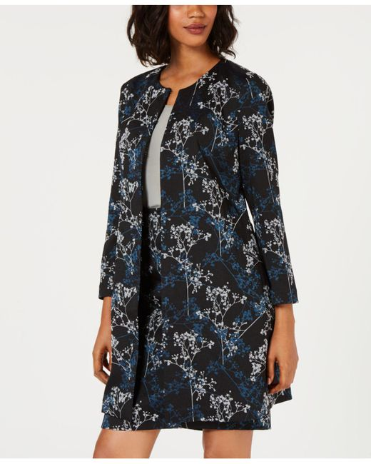 Alfani - Black Printed Jacquard A-line Jacket, Created For Macy's - Lyst