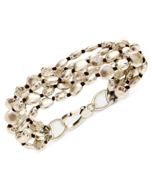 Lucky Brand | Metallic Bracelet, Silver-tone Coin Bracelet | Lyst