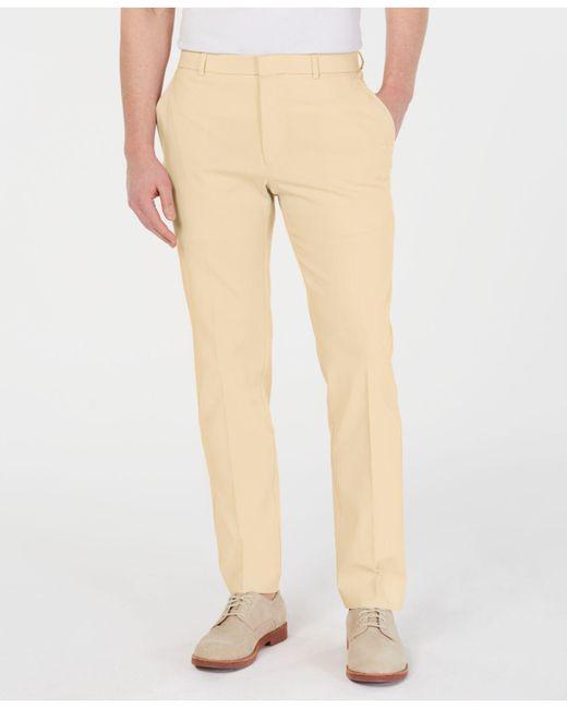 5c1fa58b17122a Tommy Hilfiger - Yellow Modern-fit Th Flex Stretch Comfort Solid Dress Pants  for Men ...