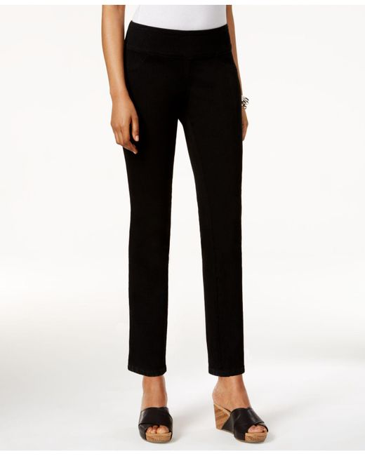 Style & Co.   Curvy-fit Pull-on Jeggings, Black Wash   Lyst