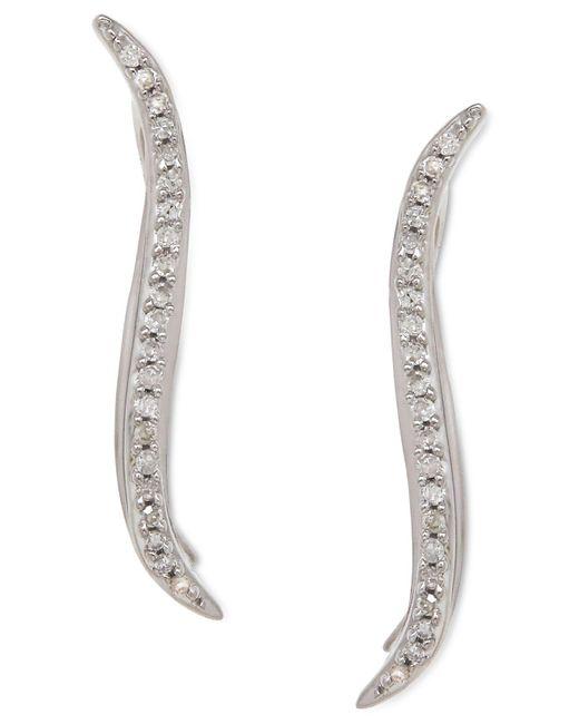 Macy's - White Diamond Ear Crawlers (1/10 Ct. T.w.) In Sterling Silver - Lyst