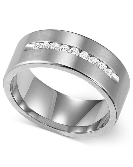 Triton - Metallic Men's Channel-set Diamond Wedding Band In Cobalt (1/4 Ct. T.w.) for Men - Lyst