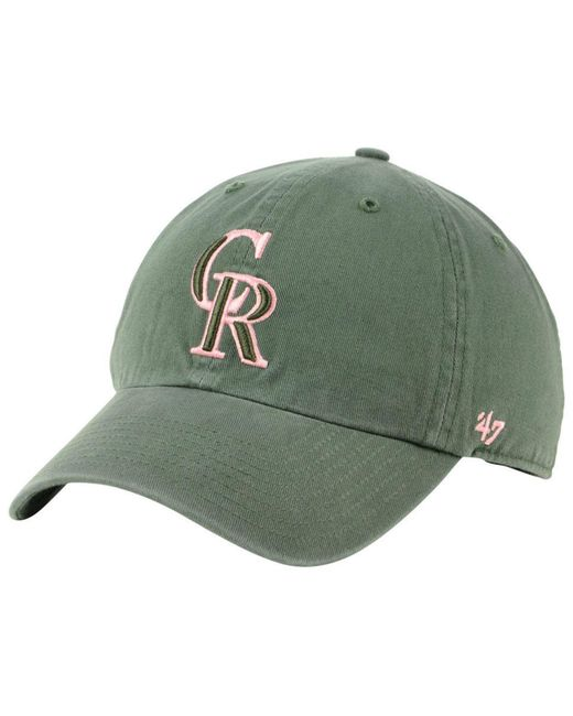 0e50f41879e 47 Brand - Green Colorado Rockies Moss Pink Clean Up Cap for Men - Lyst ...
