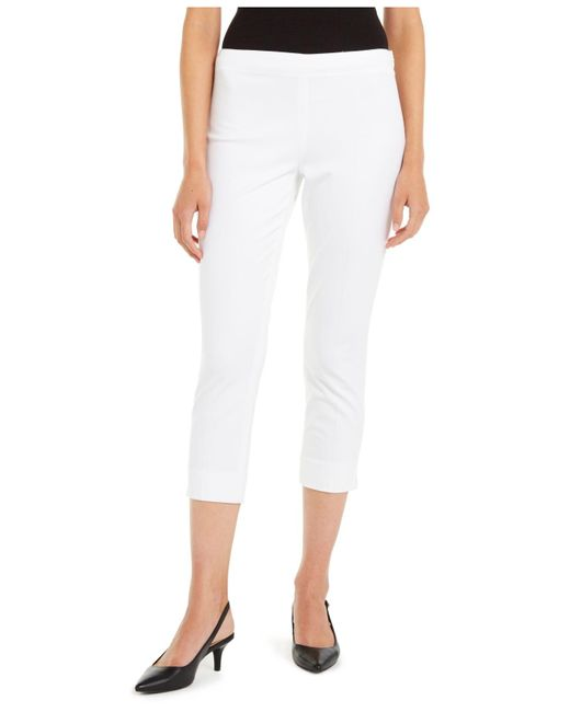 Elie Tahari White Juliette Cropped Pants