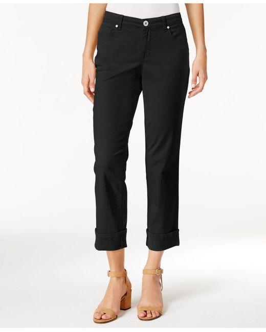 Style & Co. Black Curvy Cuffed Capri Jeans, Created For Macy's