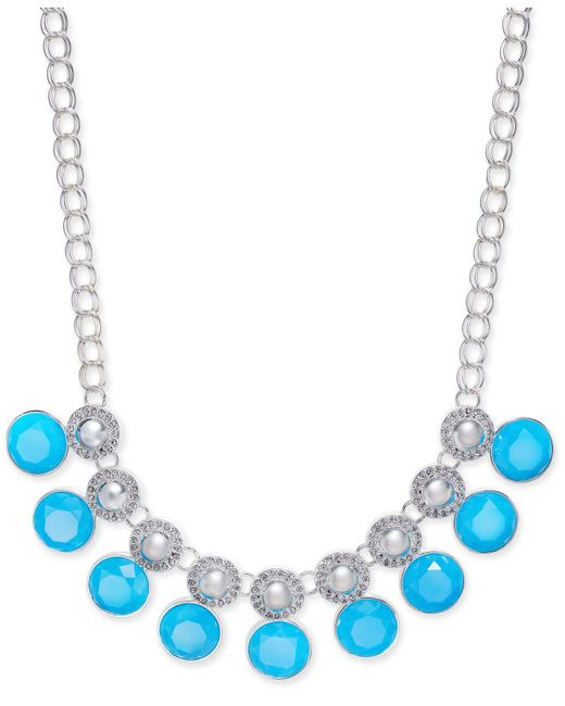 Charter Club | Blue Multi-stone Large Link Collar Necklace | Lyst