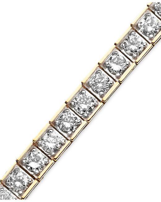 Macy's - Metallic Diamond Bracelet In 10k Gold (5 Ct. T.w.) - Lyst