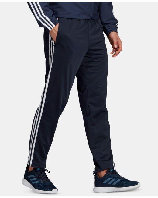 70d124797 ... Adidas - Blue Essentials Three-stripe Track Pants for Men - Lyst ...