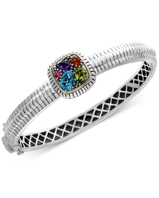 Effy Collection - Metallic Multi-gemstone Bangle Bracelet (2 Ct. T.w.) In Sterling Silver & 18k Gold - Lyst