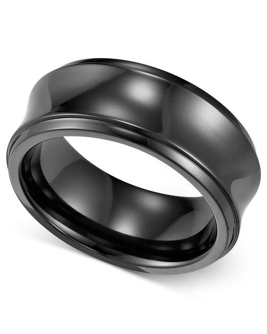 Triton - Multicolor Black Titanium Ring, Concave Wedding Band (8mm) for Men - Lyst