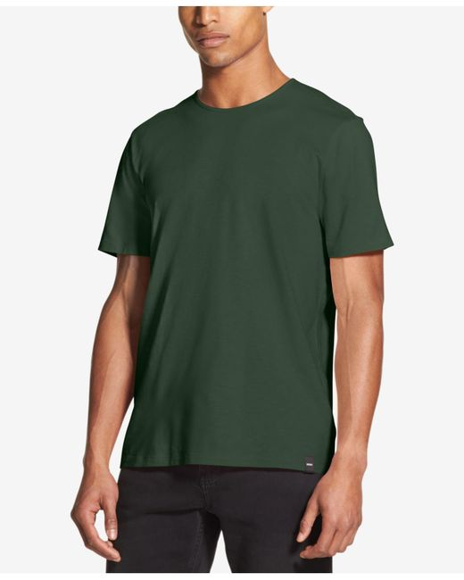 DKNY - Green Mercerized Solid T-shirt, Created For Macy's for Men - Lyst